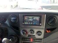Установка штатной магнитолы iBix Android, парковочной камеры с изготовлением двухдиновой рамки на автомобиль IVECO DAILY