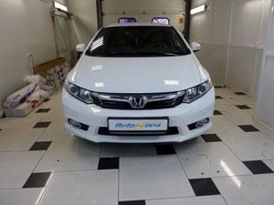 Установка 8-ми датчикового парктроника ParkMaster на автомобиль Honda Civic VIII 2012-