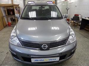 Установка 8-ми датчикового парктроника ParkMaster на автомобиль Nissan Tiida
