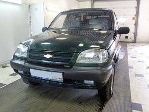 Установка 4-х датчикового парктроника ParkMaster 4DJ35 на автомобиль Chevrolet Niva