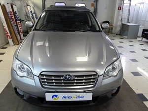 Установка 4-х датчикового парктроника Parkmaster на автомобиль Subaru Outback
